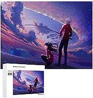 Fate/stay Night ジグソーパズル 1000ピース 絵画 学生 子供 大人 向け 木製パズル TOYS AND GAMES おもちゃ 幼児 アニメ 漫画 プレゼント 壁飾り 無毒無害 ギフト 500 PCS