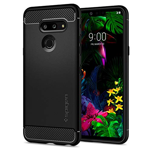 Spigen Cover Rugged Armor Compatibile con LG G8 ThinQ - Nero