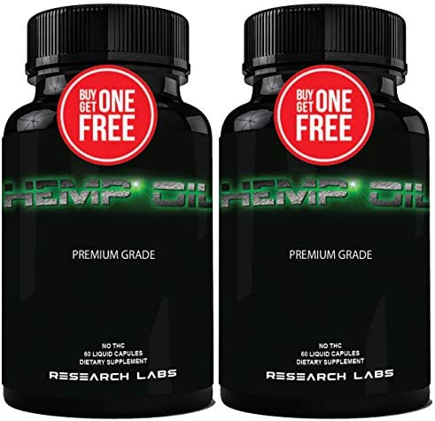 Research Labs 450 000 MG Premium Hemp Oil Capsules Buy 1 GET 1 Free 100 Organic All Natural product image