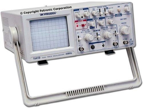 B&K Precision 1541D Dual Channel Analog Oscilloscope, 40MHz