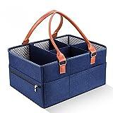 Organizador del carrito del pañal del bebé, cesta portátil del carrito del pañal para los elementos esenciales del bebé