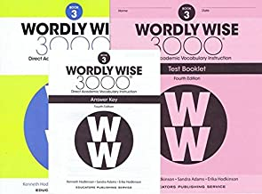 Wordly Wise 3000 Fourth Edition Student Edition + Test Booklet + Answer Key Set Grade 3