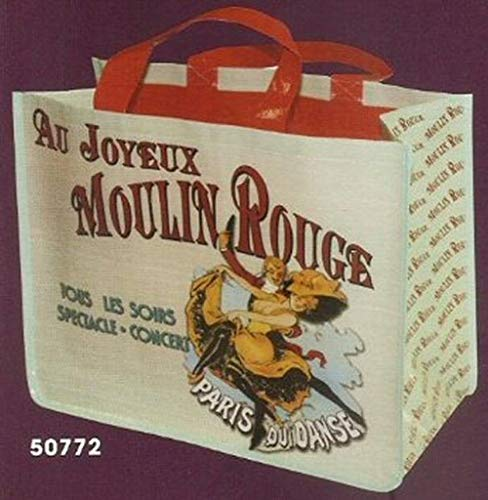 FRANSE SHOPPING TOTE BAG AMBIANCE RETRO AD MOULIN ROUGE PARIJS