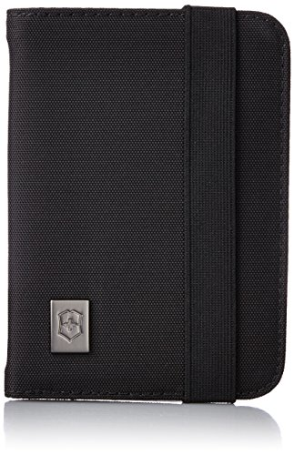 Victorinox Passport Holder with RFID Protection, Black/Black Logo, One Size