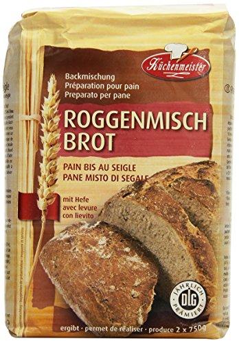 Küchenmeister Roggenmischbrot Bac, 10er Pack (10 x 1 kg)