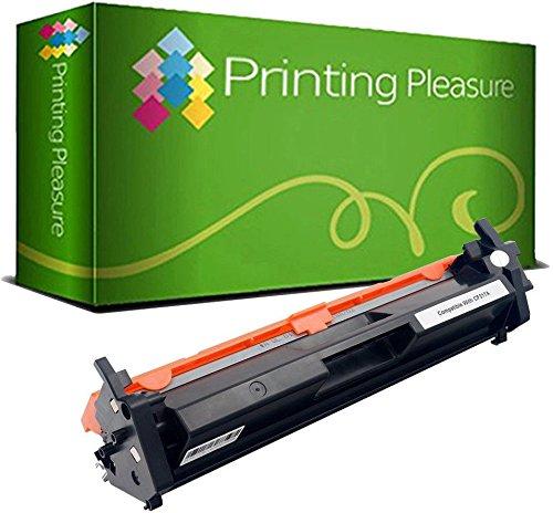 Printing Pleasure Toner kompatibel zu CF217A 17A [mit CHIP] für HP Laserjet Pro MFP M130nw M130fn M130fw M130a M102a M102w - Schwarz, hohe Kapazität (1.600 Seiten)
