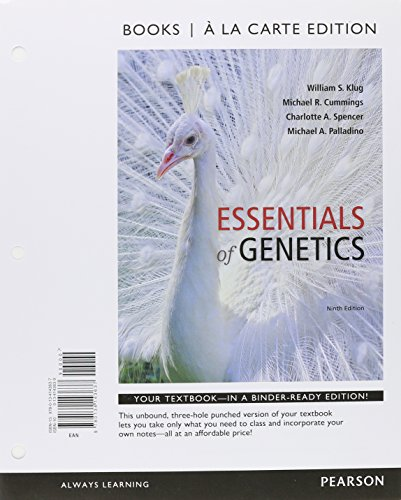 Essentials of Genetics, Books a la Carte Plus Mastering Genetics with eText -- Access Card Package (9th Edition)