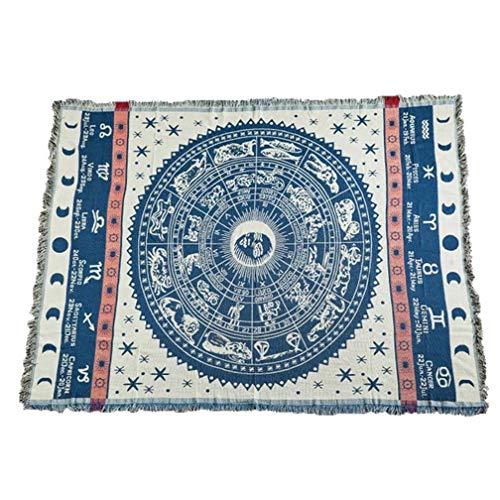 1 Stück Böhmische Tagesdecke Gestrickte Decke Baumwolle Geflochtene Boho-Decken 130 * 180 cm / 180 * 220 cm / 230 * 250 cm für Couchbezug Sofa Stuhl Bettdekoration