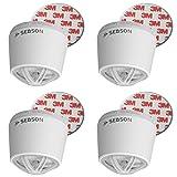 SEBSON 4x Detector de Calor incluye Soporte Magnético, Batería de Litio de Larga Duración 10 Años, Mini Detector de calor para cocina/baño, Ø50X43,5mm, GS403