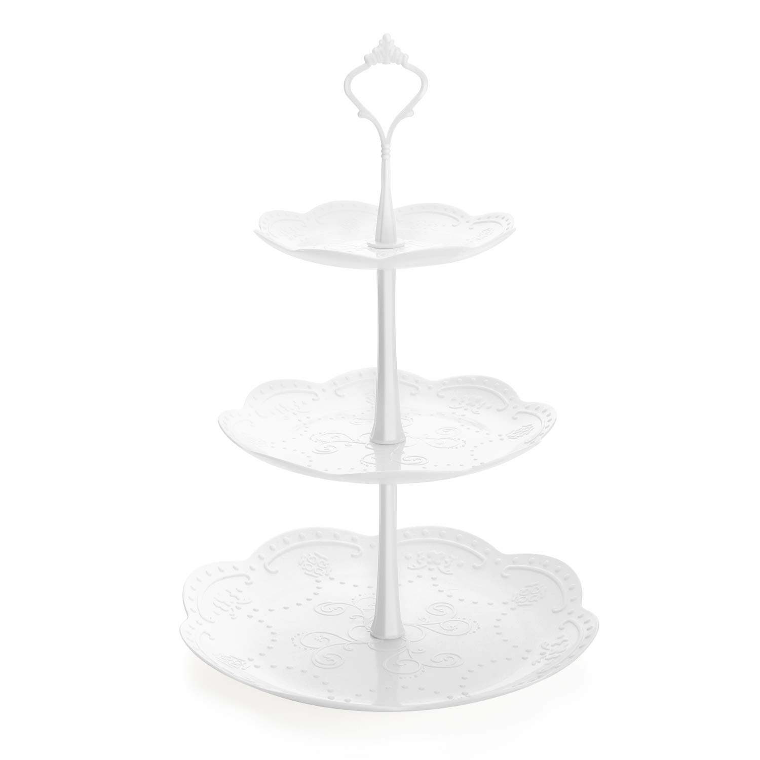 Stainless Steel VonShef 3 Tier Cake Stand Party To Display Cupcakes Muffins Cakes Wedding