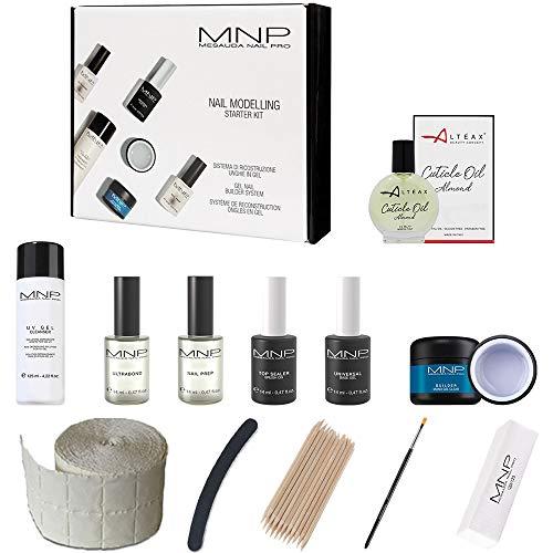 MESAUDA Starter Kit Nail Modelling + Accessori + OMAGGIO Olio ALTÉAX® Set di Ricostruzione Unghie Gel Professionale