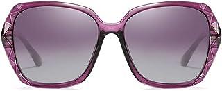 Fashion Black/Purple/Red/Silver Female Models Driving Sunglasses Fashion Wild New PC Material Polarized Color Film Sunglasses Retro (Color : Purple)