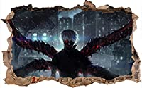 3D東京喰種 Tokyo Ghoul 立体卧室 墙贴 时尚的墙贴 室内装饰 时尚 墙壁装饰 可剥离 防水 环保材料-80X120CM-A_80*120CM