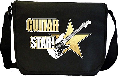 Electric Guitar Star - Sheet Music & Accessory Messenger Bag MusicaliTee
