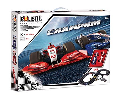 Polistil- Pista Elettrica Champion, Colore Nero, 960178