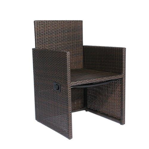 MP Home & Garden® Alu Gartenmöbel Sessel Sunshine BRAUN, Polyrattan, verstellbare Rückenlehne