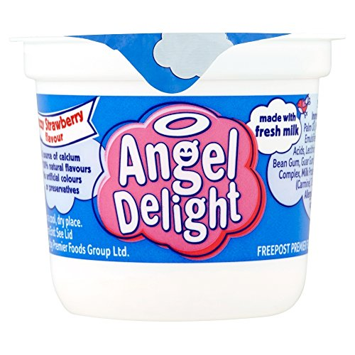 Angel Delight - Maceta de postre con sabor a fresa, 70 g, 6 unidades