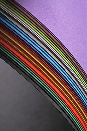 Clairefontaine 97298C Fotokarton Pack, 28 Bögen Premium, 50 x 70 cm, 300 g, Sortierung, 14 farben