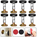 8 Sets Bed Frame Anti-Shake Tools, Bedside Anti-Shake Fixer Headboards Adjustable Threaded Bed Frame Fixer Prevent Rocking Bed Support Height Adjustable for Fixing (2.1 Inch-4.3 Inch)
