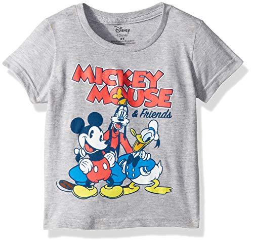 Disney Boys' Toddler Mickey Mouse & Friends Short Sleeve Tshirt, Heather Grey, 2T
