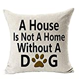WEUIE Throw Pillow Case for Couch,Best Gift for Dog Lover,Cushion Covers for Chair,18x18 inches,45x45 cm