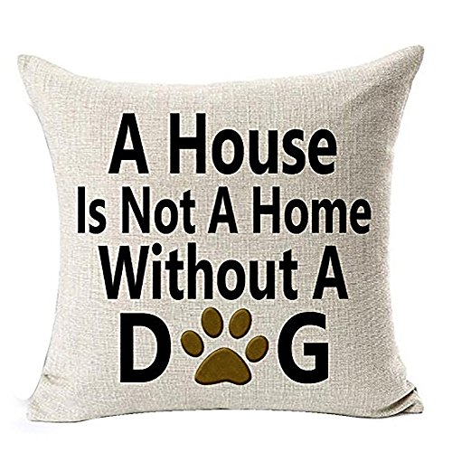 ❤️Byedog❤Throw Pillows Pillow Couch Pillowcases Best Dog Lover Gifts Cotton Linen Throw Pillow Case Cushion Cover White