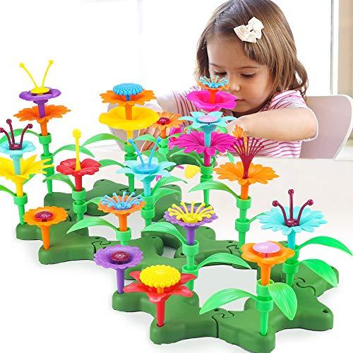 CENOVE Giocattoli Da Giardino Per Bambine, Set Di Bouquet Fai-Da-Te Per 3 4 5 6 Anni, Giocattoli Creativi E Artistici Per Bambini (117 PCS)