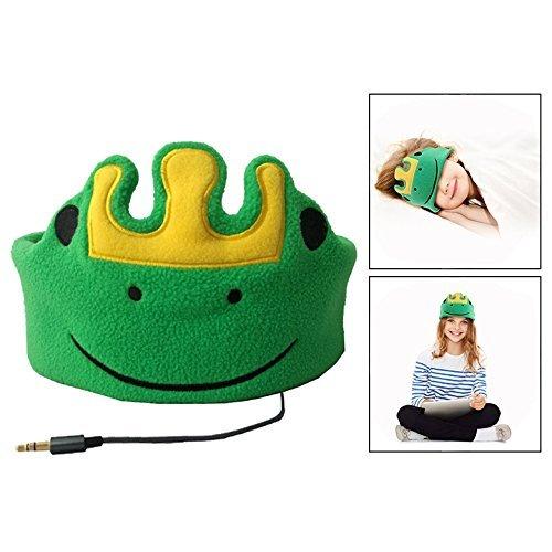 Itian Rana verde - Auriculares para niños, Auriculares para la cabeza de la venda de la música del auricular, Super Comfortable Soft Fleece Headphones for Children