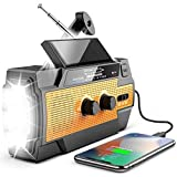 Best Solar Radios - [Newest] Emergency Hand Crank Solar Flashlight Radio, 4000mAh Review
