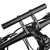自転車 ハンドルバー 延長ブラケット アルミ合金製 自転車ホルダー 軽量 エクステンションマウント アクセサリー ホルダー 取り付け簡単
