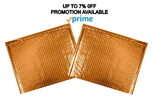 ABC 10 Pack Gold Bubble mailers 13 x 11. Folder size Metallic padded envelopes 13x11. Cushion envelopes Peel and Seal. Large padded mailing envelopes for shipping, packing, packaging. Wholesale Photo #5