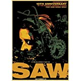 JQQBL Plakate Vintage Classic Horror Movie Saw Poster