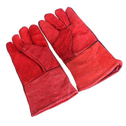 MASUNN één paar hittebestendige lederen lassers bescherming handschoenen