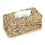 SUMTREE Caja de pañuelos de papel de ratán, caja de pañuelos, caja de almacenamiento para pañuelos, para cuarto de baño, salón y comedor, oficina (transparente, grande)