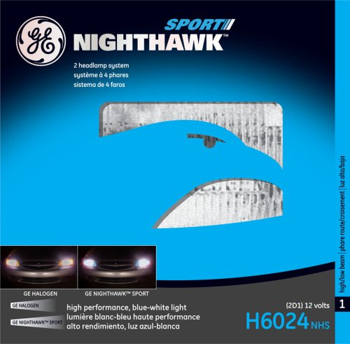 GE Lighting H6024NHS Nighthawk Sport Automotive Headlight Bulb