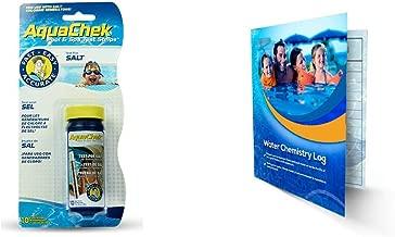 Hach Company AquaChek White Salt Titrators Test Strips 561140A Bundle with Exclusive Water Chemistry Log (1)
