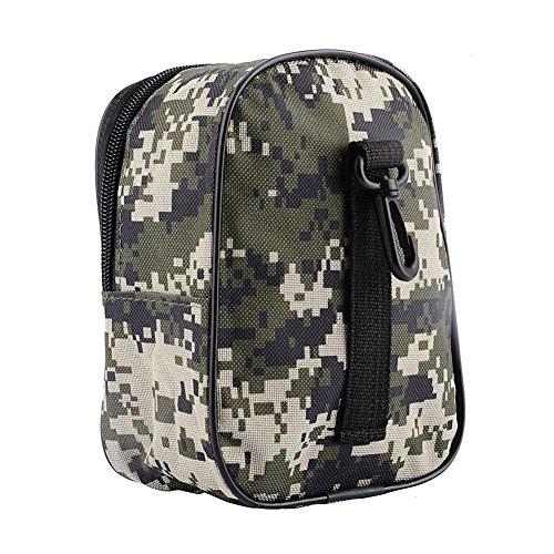 XMxDESiZOutdoor Camouflage Angelrolle Gürteltasche Portable Tackle Holder Aufbewahrungstasche - Camuflaje