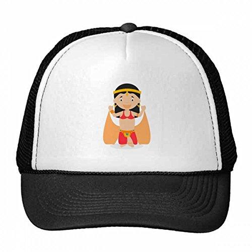 DIYthinker Nylon Gorra de béisbol de Dibujos Animados Bailarina Oriental Gorros Gorro Casquillo Ajustable Regalo Fresco Sombrero de los niños