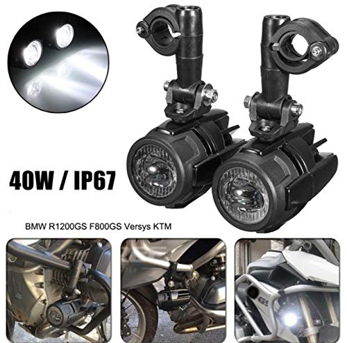 2PCS Faretti LED Moto Supplementari faro di profondità + staffe 360° r 1200 gs f800 gs 700 nc 700x trk 500 x tenerè Motocicletta Motocicli waterproof IP67