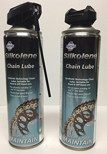 Silkolene ;Lubricante para cadena, para Motocicleta, Moto, 2 unidades, 500ml, para carretera y fuera de carreter