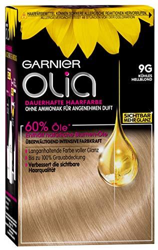 Garnier Olia 9G Kühles Hellblond, Haarfarbe mit natürlichem Öl, Ohne Ammoniak für einen angenehmen Duft (3 Stück)
