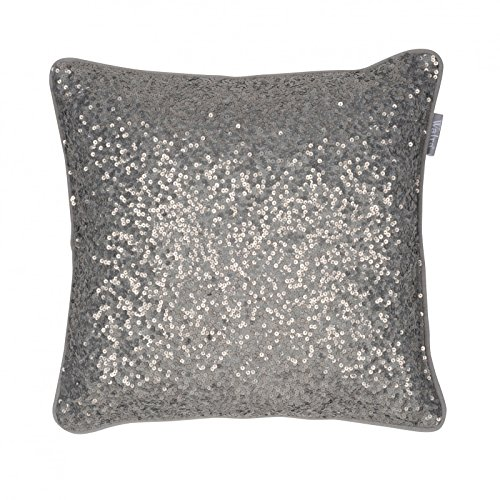 Kussen Silke 45x45 cm grijs - decoratief kussen sierkussen huishoudtextiel decoratief kussen kussens