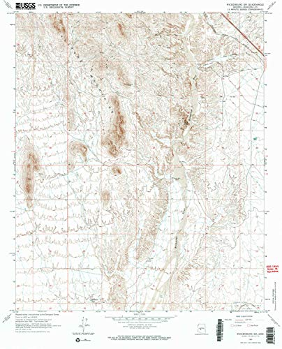 YellowMaps Wickenburg SW AZ topo map, 1:24000 Scale, 7.5 X 7.5 Minute, Historical, 1965, Updated 1973, 26.7 x 21.6 in - Paper