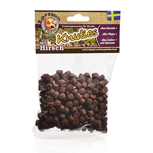 Larsson ® | KNUTIES Kauartikel - Kartoffel-Hirsch Hunde Snack Leckerlie 150gr