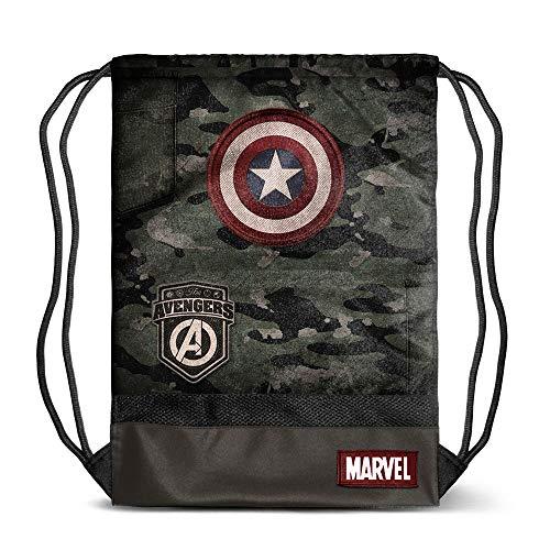 Karactermania Captain America Army-sacca Storm Bolsillo Suelto para Mochila 48 Centimeters Multicolor (Multicolour)