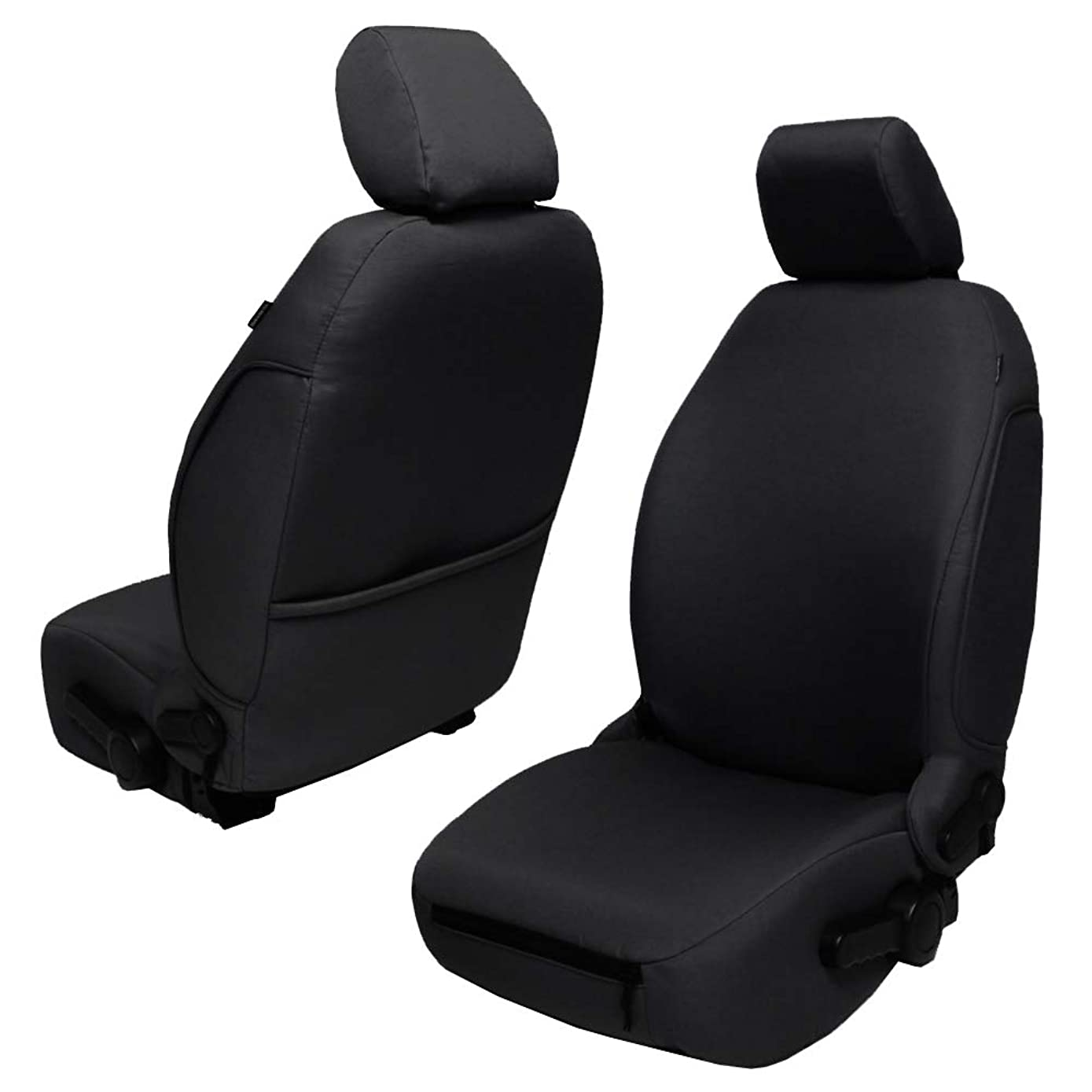 Bartact JKBC1112FP - 2011-2012 Jeep Wrangler JK and JKU Baseline Performance Front Seat Covers (Pair) (Black)