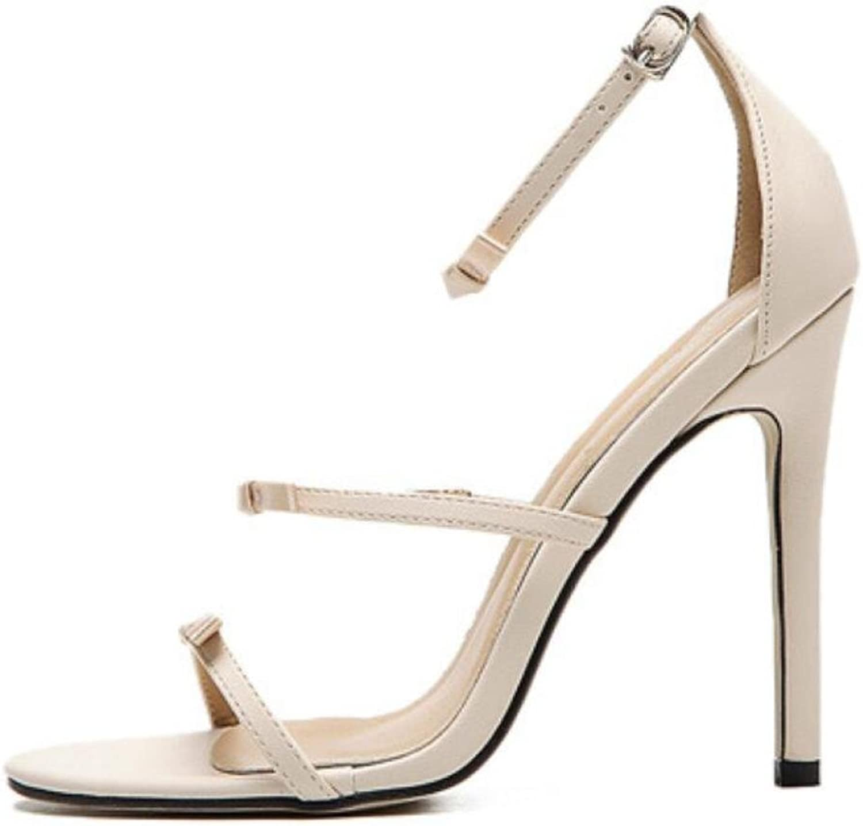 LINYI Stiletto Heels Thin Sandals Female Summer New Bow Word Open Toe High Heels Wild Women shoes