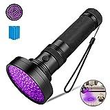 Coquimbo Torcia UV, 100 LEDs Lampada Ultravioletti, 395nm Blacklight lampada Faretto UV per Animali Urina Rilevazione/Gatto Macchia Rivelatore