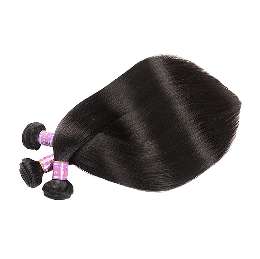 側溝会議壮大3バンドル人間の髪織りバンドルグレード9Aブラジルバージン毛延長横糸レミーストレート人間の髪