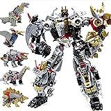 5 in 1 Anime Transformation Toys Devastator Robot Dinosaur Movie Action Figure Car Model Kids boy Toys Gift